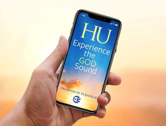The HU app displayed on a phone